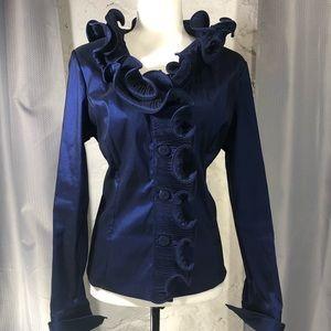 Gorgeous Samual Dong Metallic Blue Blazer